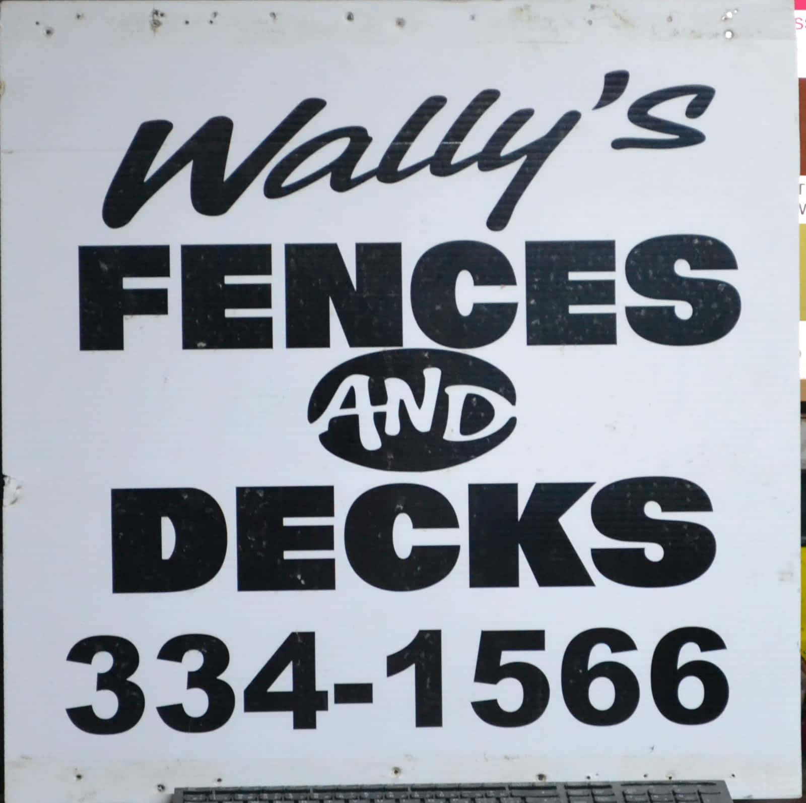 Wally's Fences and Decks